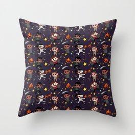 Monster Halloween special Throw Pillow