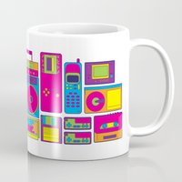 90s Mugs featuring 90s by sknny