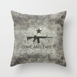 Come and Take it Flag with AR-15 Throw Pillow