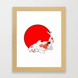 Japanese koi carp Framed Art Print