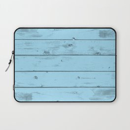 Blue Wood Texture Laptop Sleeve