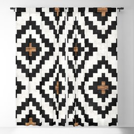 Urban Tribal Pattern No.16 - Aztec - Concrete and Wood Blackout Curtain