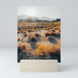 Desert Mountain Sunset Mini Art Print