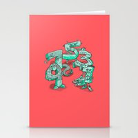 numbers Stationery Cards featuring Odd Numbers by Nick Volkert