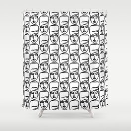 The Oracle Print Shower Curtain