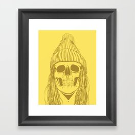 Skull Girl 3 Framed Art Print
