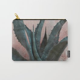 Pink Blue Cactus Carry-All Pouch