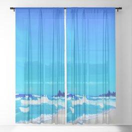 Carribean Coast Sheer Curtain