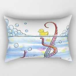 Bath Time Octopus Rectangular Pillow