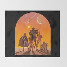 Space Opera Concept Throw Blanket
