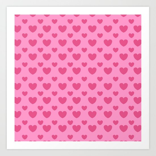 Love Pattern Art Print