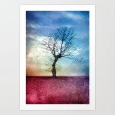 ATMOSPHERIC TREE III Art Print