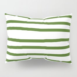 Simply Drawn Stripes in Jungle Green Pillow Sham