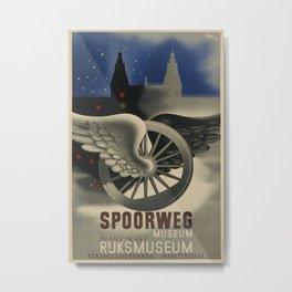 Spoorweg Museum Vintage Travel Poster Metal Print