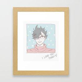 Haikyuu!! - Kurotsuki 7 Framed Art Print
