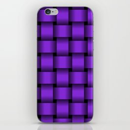 Large Violet Weave iPhone Skin