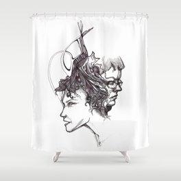 Faun Heads Shower Curtain