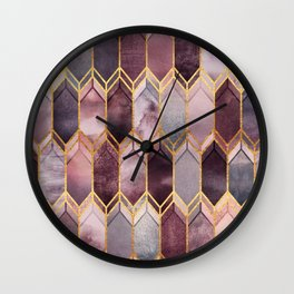 Dreamy Stained Glass 1 Wall Clock