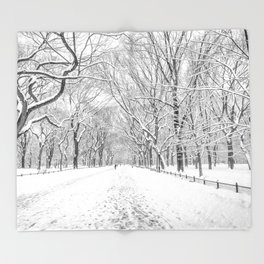 New York City Snow Throw Blanket