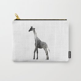 Abstract Black & White Giraffe Art Carry-All Pouch
