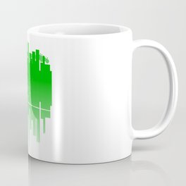 Abstract Green Guitar City Coffee Mug