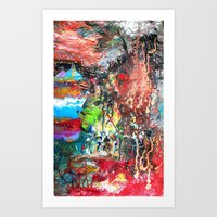 Cosmic Collision Art Print