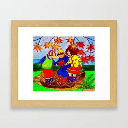 Splashy Puddle Jumpers Framed Art Print