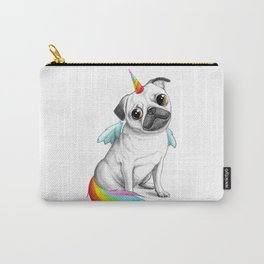Pug unicorn Carry-All Pouch