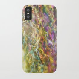 IRIDESCENT COLOURS OF SOAP FILM iPhone Case