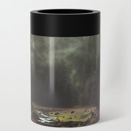 Foggy Forest Creek Can Cooler