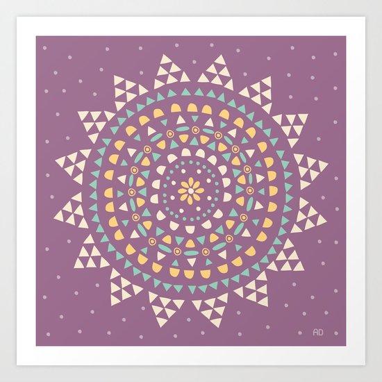 Moon Star Art Print