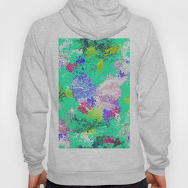Paint on a green background texture Hoody