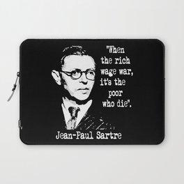 J P Sartre Laptop Sleeve
