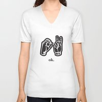 kim sy ok V-neck T-shirts featuring ok by Chloe PurR