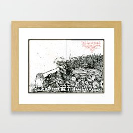 Still-life with Woodpile Framed Art Print