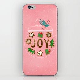Christmas cookies jar iPhone Skin