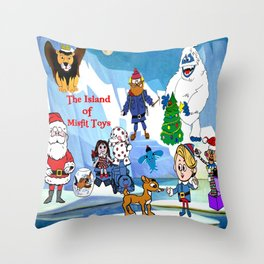 Island of Misfit Toys Throw Pillow