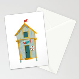 Beach Hut Number One Stationery Cards