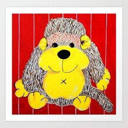 Cuddly Monkey , a primate playmate Art Print