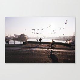 AMSTERDAM / Winter Sunrise Canvas Print