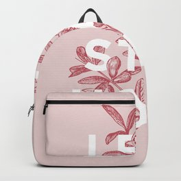 Let's Stay Home floral typography print wall art home decor Backpack