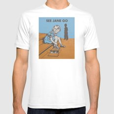 See Jane Go Mens Fitted Tee MEDIUM White