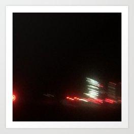 Abstracte Light Art in the Dark 12 Art Print