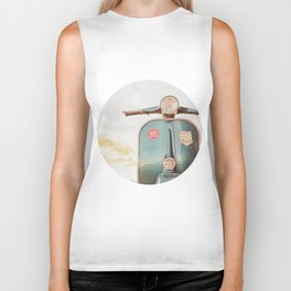 The Blue Vespa Biker Tank