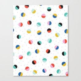 Color Block Dots Canvas Print