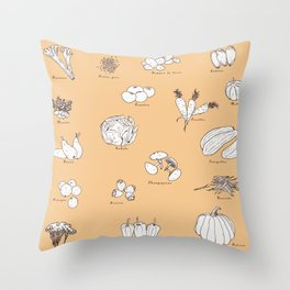 Fruit And Vegetables Throw Pillow