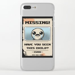Missing Poster Clear iPhone Case
