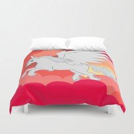 Alicorn at Sunset Duvet Cover