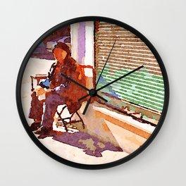 Street player in Aleppo Wall Clock