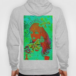 Lime Butterfly Queen Hoody